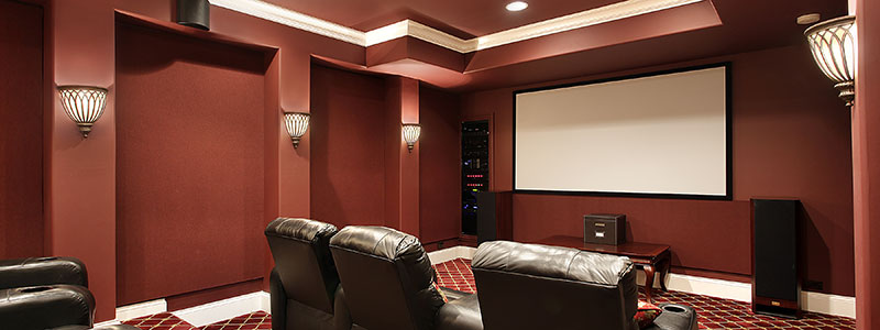 Custom designs, building, and installations for home theater systems.